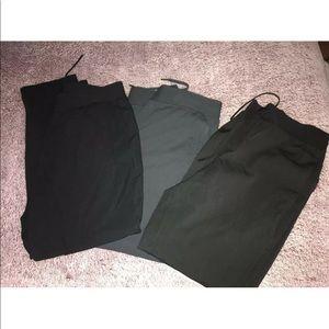 3 Lululemon Men's XL Black &Gray Drawstring Jogger